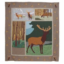 Elk Cotton Throw Quilt