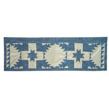 <strong>Patch Magic</strong> Feathered Star Cotton Curtain Valance