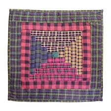 <strong>Patch Magic</strong> Tartan Log Cabin Toss Pillow