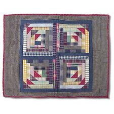 <strong>Patch Magic</strong> Wild Goose Log Cabin Standard Pillow Sham