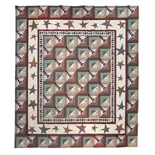 Woodland Star and Geese Quilt