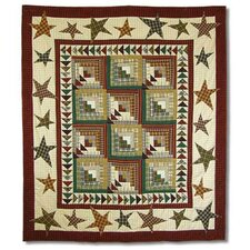 <strong>Patch Magic</strong> Woodland Star And Geese Cotton Throw Quilt