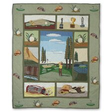 Golf Cotton Throw Quilt