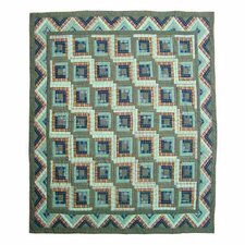 <strong>Patch Magic</strong> Green Log Cabin Quilt