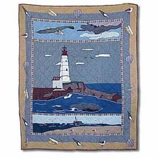 Lighthouse By Bay Cotton Throw Quilt