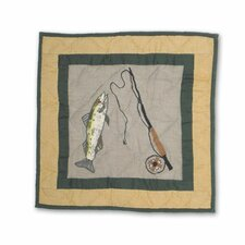 Lodge Fever Fishing Toss Pillow