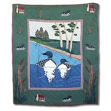 Loon Cotton Throw Quilt