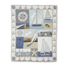 <strong>Patch Magic</strong> Nautical Cotton Throw Quilt