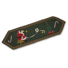 Santa By The Fireside Table Runner
