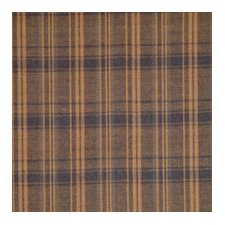 Dark Brown Plaid Cotton Curtain Panel (Set of 2)