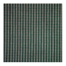 Green Hunter and Tan Checks Bed Skirt / Dust Ruffle