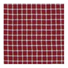 Red White Checks Cotton Bed Curtain Single Panel