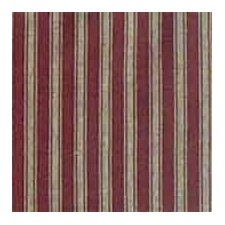Deep Red with Tan Stripe Cotton Curtain Panel (Set of 2)