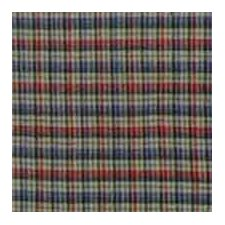 Tan and Blue Plaid Red Pink Line Cotton Curtain Panel (Set of 2)