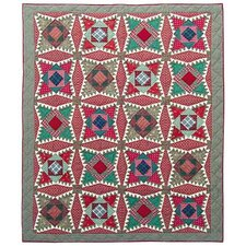 Yuletide Stars Throw Quilt