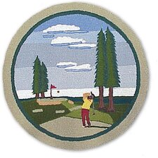 Golf Blue Kids Rug
