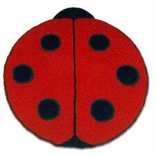 Ladybug Red Kids Rug