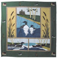 Loon Cotton Shower Curtain