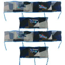 Airplane 4 Piece Bumper Pad Set