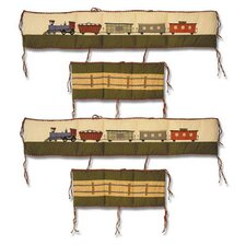 Train 4 Piece Bumper Pad Set