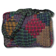 Tartan Log Cabin Shoulder Bag