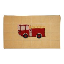 Fire Truck Bath Mat