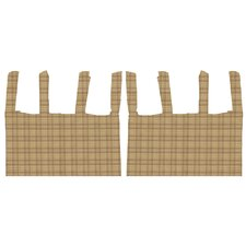 <strong>Patch Magic</strong> Brown Plaid Cotton Tab Top Bed Curtain Single Panel