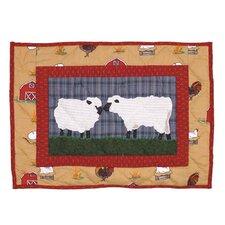 Barnyard Cotton Crib Toss Pillow