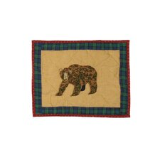 Cabin Bear Cotton Crib Toss Pillow