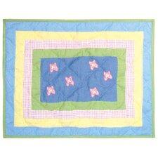 Flower Power Cotton Crib Toss Pillow