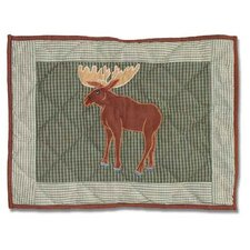 Moose Cotton Crib Toss Pillow