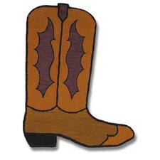 Boot Brown Shaped Novelty Rug