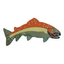 Fly Fishing Shaped Novelty Rug