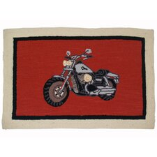 <strong>Patch Magic</strong> Motor Cycle Rect Novelty Rug
