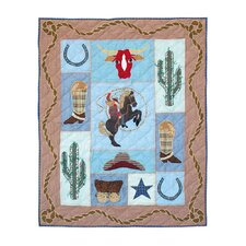 Cowgirl Cotton Crib Quilt