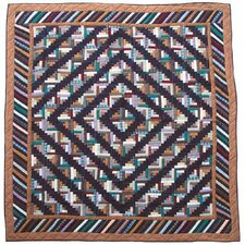 <strong>Patch Magic</strong> Dusty Diamond Log Cabin Quilt