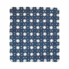 Blue Double Wedding Ring Luxury Quilt