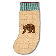 Cabin Bear Stocking