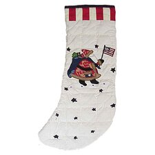 Colonial Santa Stocking