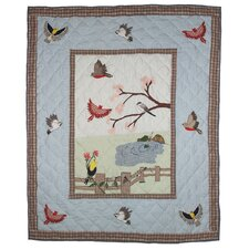 <strong>Patch Magic</strong> Songbirds Cotton Throw