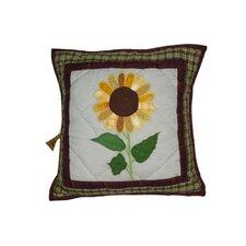 Sun Burst Cotton Toss Pillow