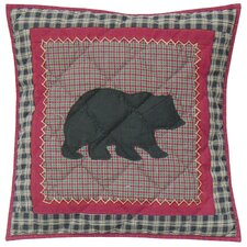 Winter North Woods Cotton Toss Pillow