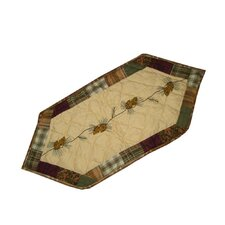 Forest Log Cabin Table Runner