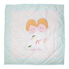 Baby Angels Cotton Toss Pillow