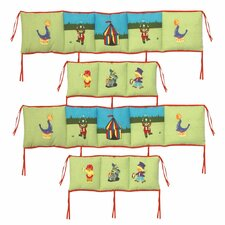 <strong>Patch Magic</strong> Circus 4 Piece Bumper Pad Set