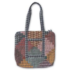 Harvest Log Cabin Tote Bag