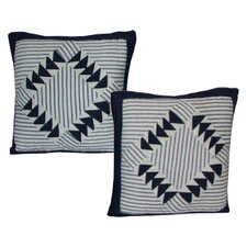 <strong>Patch Magic</strong> Mariner Cove Cotton Toss Pillow (Set of 2)