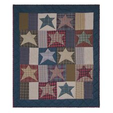 Homespun Stars Cotton Crib Quilt