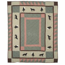 <strong>Patch Magic</strong> Wolf Trail Cotton Throw
