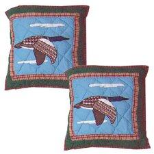 Loon Cotton Toss Pillow (Set of 2)